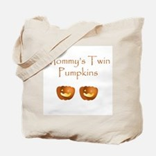 Mommy's twin pumpkins Tote Bag