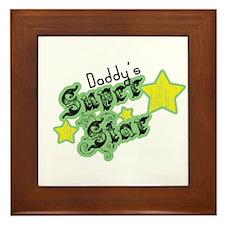 Daddy's Super Star Framed Tile