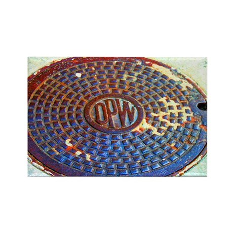 DPW Manhole Rectangle Magnet (10 pack)