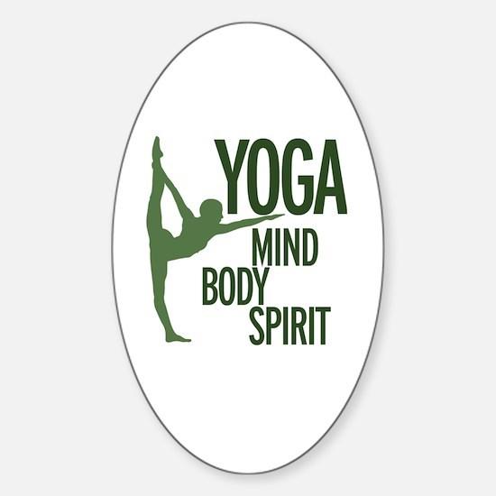Cool Mind body spirit Sticker (Oval)
