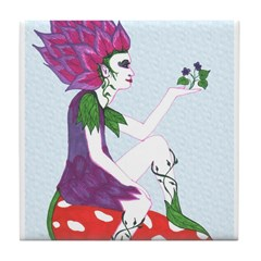 Flower Fairy on Mushroom Tile Coaster