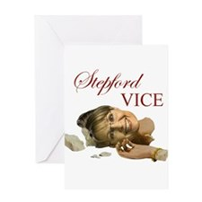 Stepford Vice - Sarah Palin Greeting Card