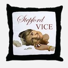 Stepford Vice - Sarah Palin Throw Pillow