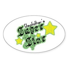 Stepfather's Super Star Oval Decal