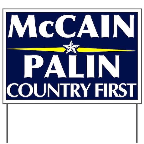 McCain Palin Yard Sign