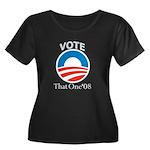 Obama That One Women's Plus Size Scoop Neck Dark T
