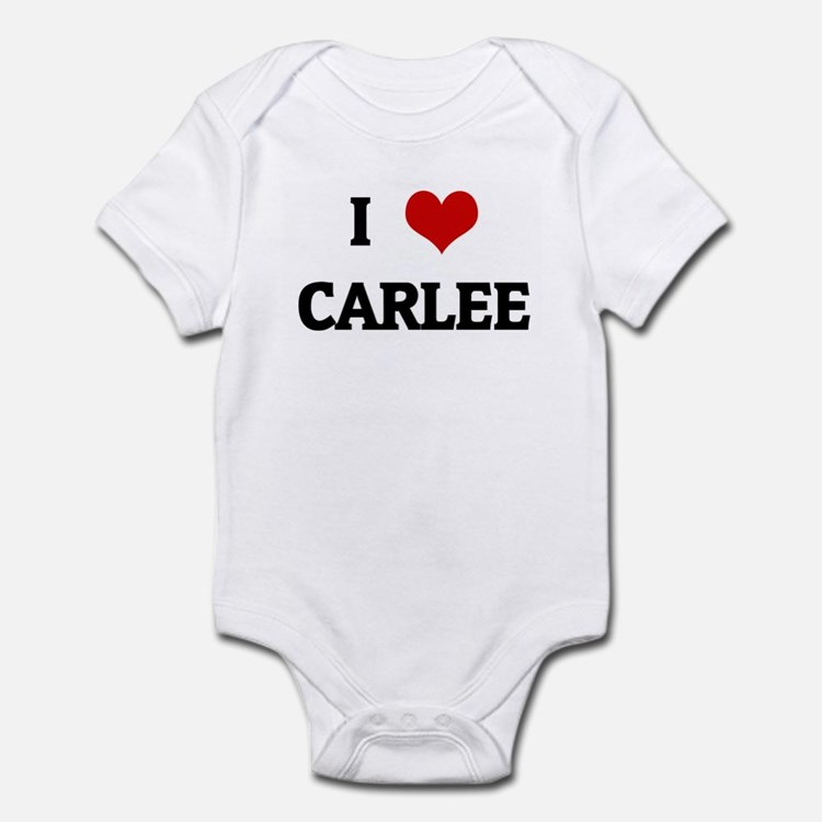 I Love CARLEE Infant Bodysuit