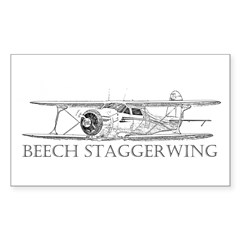 Beech Staggerwing Rectangle Decal