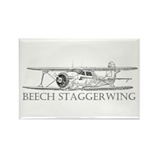 Beech Staggerwing Rectangle Magnet