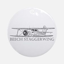Beech Staggerwing Ornament (Round)