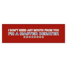 Master Debater Bumper Bumper Sticker