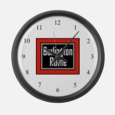 Burlington Route Large Wall Clock