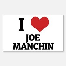 I Love Joe Manchin Rectangle Decal