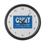 Quiet! Large Wall Clock