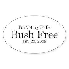 Bush Free Oval Decal