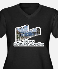 Bar Harbor Style Women's Plus Size V-Neck Dark T-S