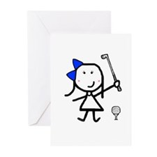 Girl & Golf Greeting Cards (Pk of 20)
