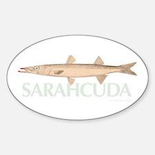 Sarahcuda the Lipstick Cuda Oval Decal