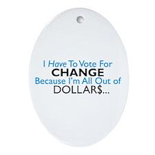 Change Oval Ornament