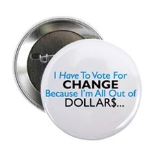 "Change 2.25"" Button (10 pack)"