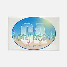 Cute Long beach california Rectangle Magnet