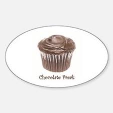 Chocolate Freak Oval Decal
