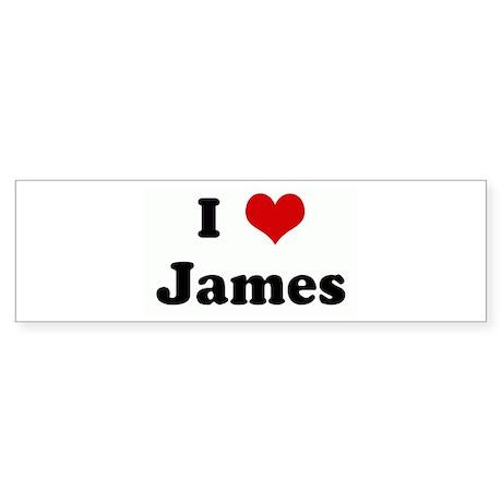 I Love James Bumper Sticker