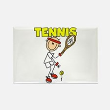 Male TENNIS Rectangle Magnet (10 pack)