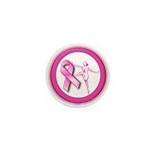 Dancer Pink Ribbon Mini Button (100 pack)