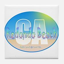 Cute Pebble beach Tile Coaster
