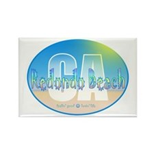 Funny Love beach life Rectangle Magnet