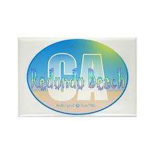 Cute Malibu beach california Rectangle Magnet