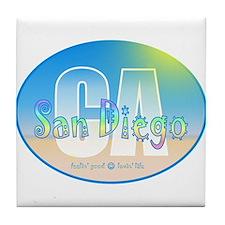 Unique Pebble beach california Tile Coaster