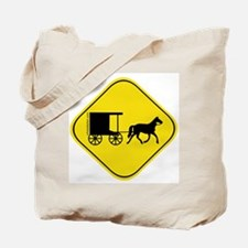 Amish Buggy Crossing Tote Bag