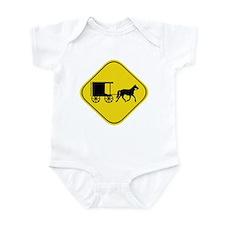 Amish Buggy Crossing Infant Bodysuit