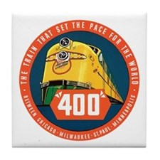 400 Train Tile Coaster