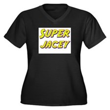 Super jacey Women's Plus Size V-Neck Dark T-Shirt