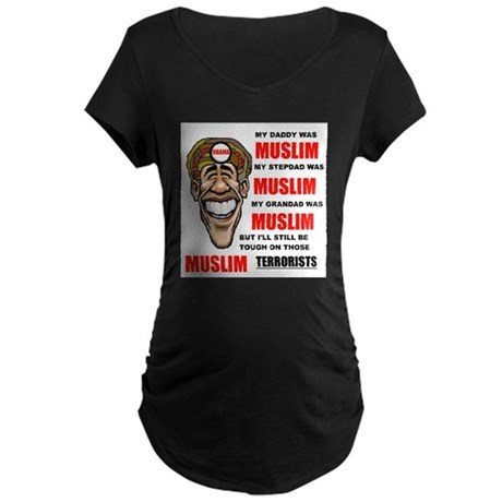 NOT MUSLIM? Maternity Dark T-Shirt