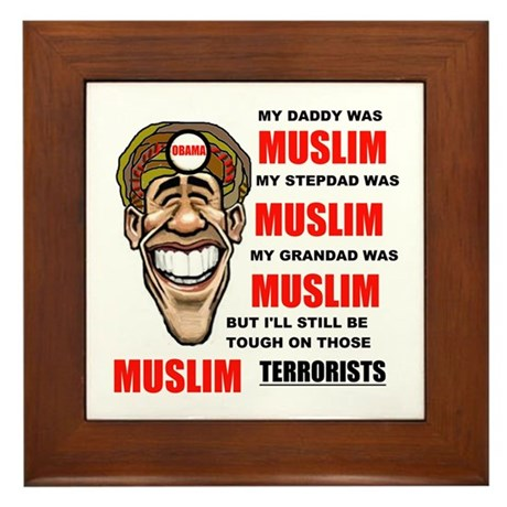 NOT MUSLIM? Framed Tile