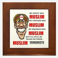 NOT MUSLIM? Framed Tile