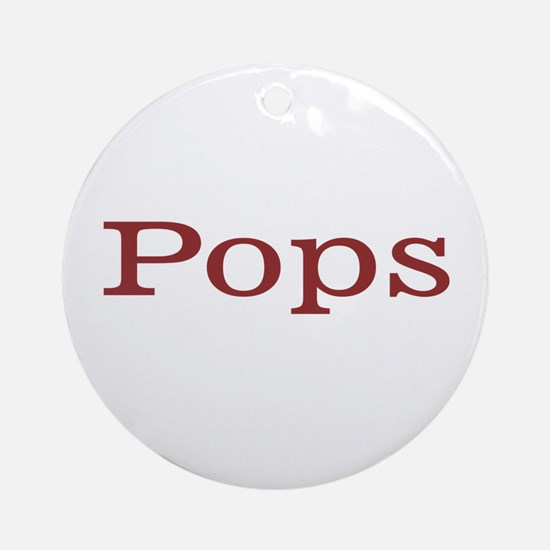 Pops Ornament (Round)