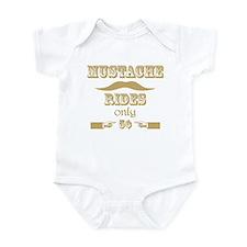 Mustache Rides only 5 cents T-Shirt Infant Bodysui