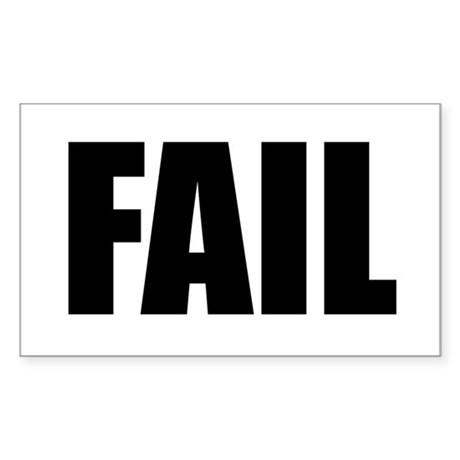 FAIL Sticker (Rectangle)