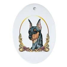 Miniature Pinscher Christmas Oval Ornament