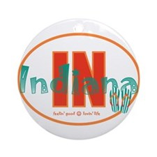 Indiana christmas Ornament (Round)