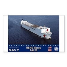 USNS Mercy T-AH-19 Rectangle Decal