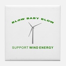 Support Wind Energy - Tile Coaster