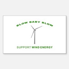 Support Wind Energy - Rectangle Decal