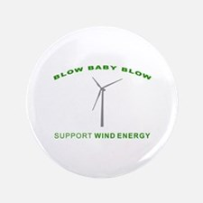 "Support Wind Energy - 3.5"" Button"