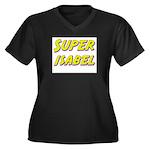 Super isabel Women's Plus Size V-Neck Dark T-Shirt